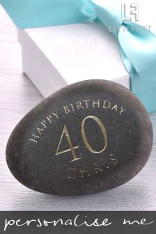 Personalised Birthday Age Decorative Pebble By Letterfest