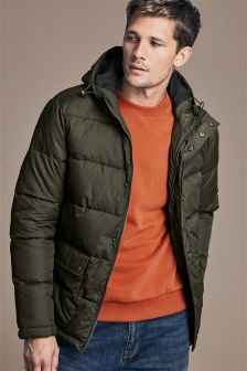 Buy Men's coats and jackets Jackets Green Hooded from the Next UK ...