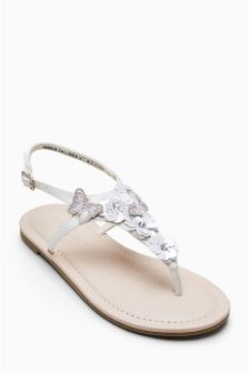 Embellished Toe Thong Sandals (Older Girls)