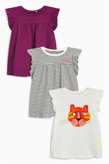 Raw Sleeve T-Shirts Three Pack (3mths-6yrs)