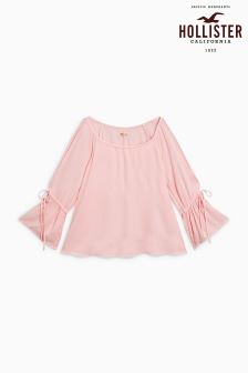 Hollister Pink Cold Shoulder Blouse