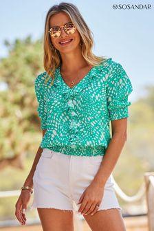 Whistles Black Croc Look Zip Front Boot