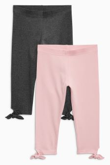 Tie Side Leggings Two Pack (3-16yrs)