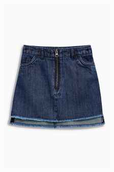 Denim Step Hem Skirt (3-16yrs)