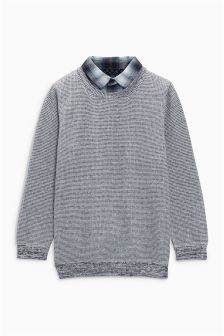 Mock Shirt Jumper (3-12yrs)