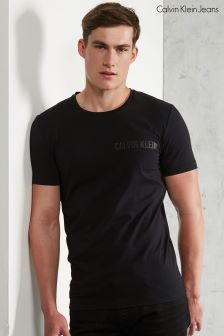 Calvin Klein Black T-Shirt With Embroidery