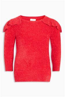 Frill Detail Chenille Jumper Dress (3mths-6yrs)