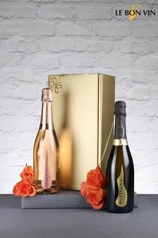 2 Bottles Temptation, Vintage Prosecco And Sparkling Rose Gift