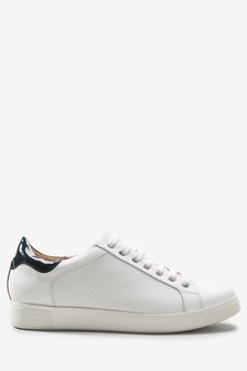 Signature Leather Lace-up Trainers