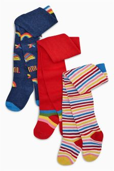 Rainbow Tights Three Pack (0mths-6yrs)
