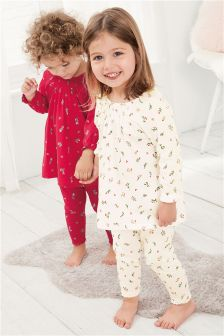 Ditsy Legging Pyjamas Two Pack (9mths-8yrs)