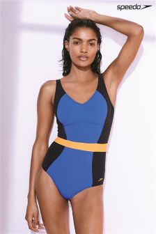 Speedo® Black/Ultramarine Crystal Gleam One Piece
