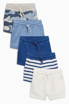 Camo/Stripe Shorts Five Pack (3mths-6yrs)