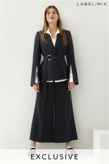 Mix/Rejina Pyo Crepe Tailored Wide Crop Trouser