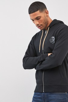 Diesel® Zip Through Logo Hoody