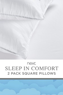 Set of 2 Sleep In Comfort Square Pillows