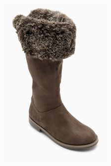 Faux Fur Tall Boots (Older Girls)