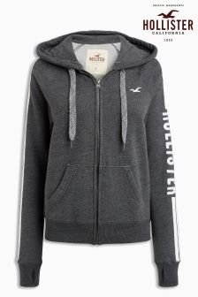 Hollister Grey Full Zip Hoody