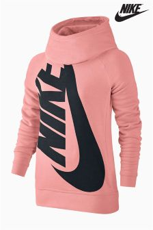 Nike Pink Modern Funnel Neck Hoody