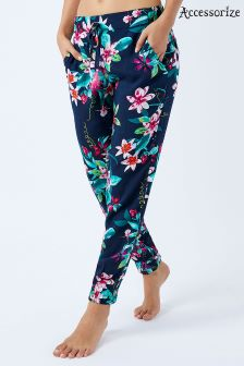 Accessorize Blue Eden Print Trousers