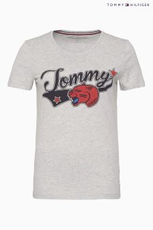 Tommy Hilfiger Grey Panther Short Sleeve T-Shirt