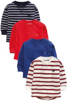 Long Sleeve T-Shirt Four Pack (3mths-6yrs)