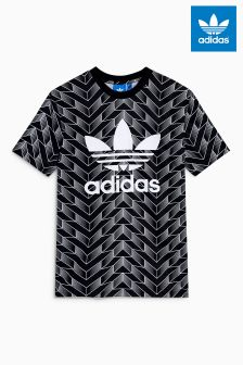 adidas Originals Black Soccer All Over Print T-Shirt