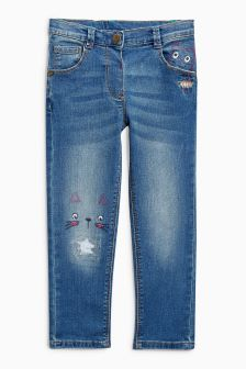 Cat Face Jeans (3mths-6yrs)