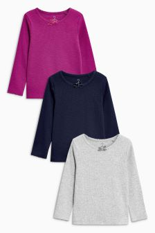 Rib Tops Three Pack (3mths-6yrs)
