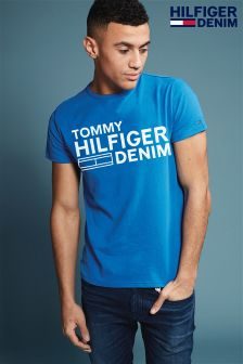 Hilfiger Denim Blue Basic Logo T-Shirt