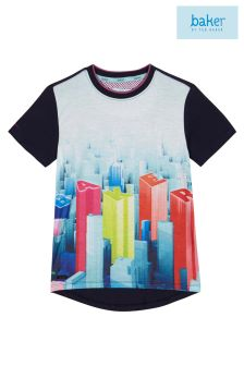 Baker By Ted Baker Navy City Scene Tee