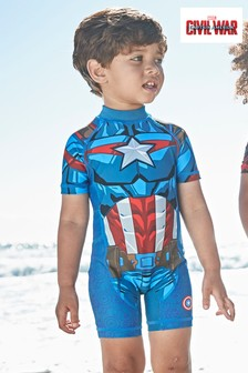 Captain America Sunsafe Suit (3mths-8yrs)