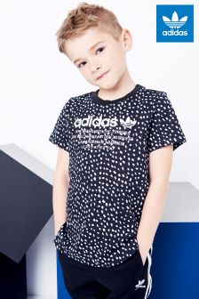 adidas Originals Little Kids Black Printed NMD Tee