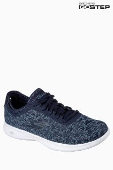 Skechers® Blue Two Tone Knitted Mesh Slip On