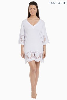 Fantasie White Dione Crochet Lace Tunic