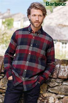 Barbour® Grey Marl Angus Check Shirt