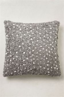 Woolly Sequin Cushion