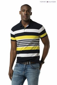 Tommy Hilfiger Blue Donny Stripe Polo Top