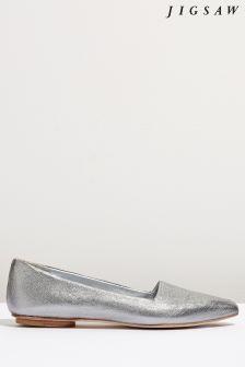 Jigsaw Silver Clarence Flat Shoe