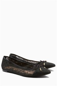 Pointed Bow Ballerinas