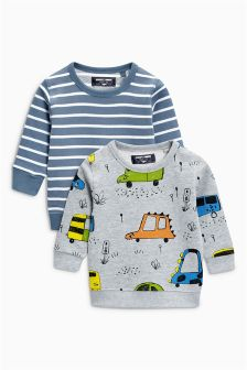 All Over Print Crew Two Pack (3mths-6yrs)