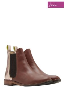 Joules Rose Gold Westbourne Leather Chelsea Boot