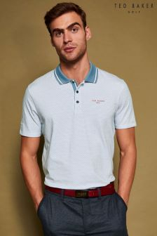 Ted Baker Golf Blue Houndstooth Polo