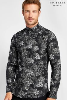 Ted Baker Black Konkord Flower Printed Shirt