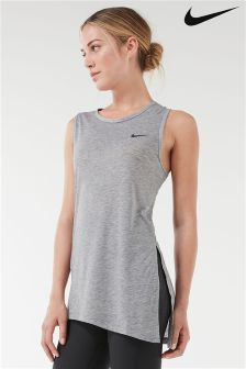 Nike Grey Breathe Sleeveless Top