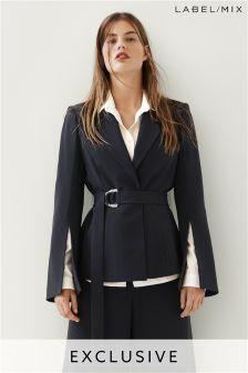 Mix/Rejina Pyo Crepe Tailored Belted Jacket