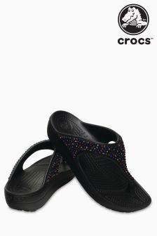 Crocs™ Black Capri V Sequin Flip Flop
