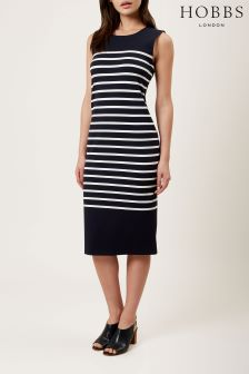 Hobbs Blue Hollie Breton Dress