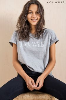 Jack Wills Grey Logo Tee