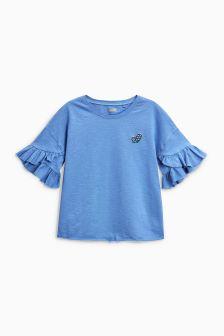 Short Sleeve Ruffle T-Shirt (3-16yrs)
